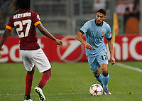 Manchester City's Gael Clichy  during the Champions League Group E soccer match between As Roma and Manchester City  at the Olympic Stadium in Rome December 10 , 2014.