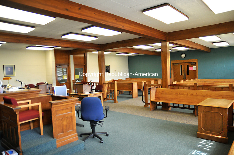 TORRINGTON, CT - 29 MAY 2014 -- The main courtroom at Bantam Superior Court. This is where arraignments are heard. The room with low cielings and a loud heating and cooling system makes it difficut for the public to hear proceedings.  Alec Johnson/ Republican-American