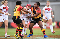 Emily Rudge, England v Papua New Guinea - Women's Rugby League World Cup match at Southern Cross Group Stadium, Sydney, Australia on 16 November 2017.<br /> Copyright photo: Delly Carr / www.photosport.nz MANDATORY CREDIT/BYLINE : Delly Carr/SWpix.com/PhotosportNZ