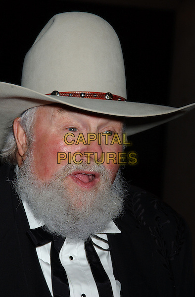 CHARLIE DANIELS.2005 BMI Awards held at BMI Nashville Headquarters..USA, United States.18 October 2005.Ref:ADM/LF.portrait headshot cowboy hat white grey beard moustache.www.capitalpictures.com.sales@capitalpictures.com.©Laura Farr/AdMedia/Capital Pictures.