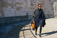 Michelle Elie at Paris Fashion Week (Photo by Hunter Abrams/Guest of a Guest)