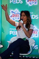 SAO PAULO, SP, 25 DE JULHO DE 2013. EVENTO P&G - ARIEL.A apresentadora Sabrina Sato durante o lançamento do  novo produto da P&G, Ariel Power Pods, na manhã desta quinta feira (25), no Hotel Tivoli, na região central da capital paulista.  Ariel Power Pods é um sabão em pó em cápsulas para maquina de lavar. FOTO ADRIANA SPACA/BRAZIL PHOTO PRESS