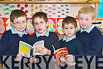 Book boys: The 1st class pupils of Killahan National School, Abbeydorney celebrating World Book Day on Friday morning were Shane Conway, Jack O'Hara-Parker, James Rigney and Adam Maunsell.   Copyright Kerry's Eye 2008