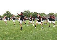 Players of AC Milan during a practice session at RFK practice facility in Washington DC on May 24 2010.