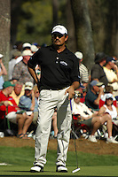 Masters Golf Tournament 2005, Augusta National Georgia, USA. Carlos Franco.<br /> <br /> Champion 2005 - Tiger Woods <br /> <br /> Note: There is no property release or model release available for this image.