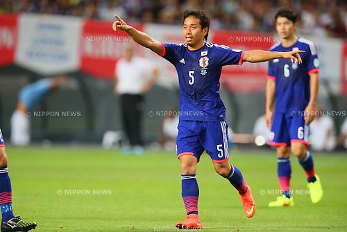 Yuto Nagatomo (JPN), <br /> SEPTEMBER 5, 2014 - Football / Soccer : <br /> KIRIN Challenge Cup 2014 <br /> match between Japan - Uruguay <br /> at Sapporo Dome, Hokkaido, Japan. <br />  (Photo by Yohei Osada/AFLO SPORT) [1156]