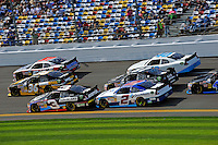 Jeremy Clements (#51), Ryan Truex (#36), Austin Dillon (#3), Elliott Sadler (#2), Joe Nemechek (#87) and Josh Wise (#40).