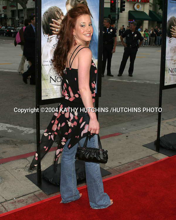 "©2004 KATHY HUTCHINS /HUTCHINS PHOTO.""THE NOTEBOOK"" PREMIERE.WESTWOOD, CA.JUNE 21, 2004..AMY DAVIDSON"