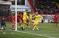 Fleetwood Town's Paddy Madden scores his side's second goal <br /> <br /> Photographer Rob Newell/CameraSport<br /> <br /> Emirates FA Cup Second Round - Crawley Town v Fleetwood Town - Sunday 1st December 2019 - Broadfield Stadium - Crawley<br />  <br /> World Copyright © 2019 CameraSport. All rights reserved. 43 Linden Ave. Countesthorpe. Leicester. England. LE8 5PG - Tel: +44 (0) 116 277 4147 - admin@camerasport.com - www.camerasport.com