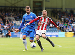 Gillingham's Max Ehmer tussles with Sheffield United's Matt Done during the League One match at the Priestfield Stadium, Gillingham. Picture date: September 4th, 2016. Pic David Klein/Sportimage