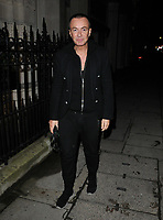 Julien Macdonald at the George Michael Collection VIP private view &amp; reception, Christie's London, King Street Saleroom, King Street, London, England, UK, on Tuesday 12th March 2019.<br /> CAP/CAN<br /> &copy;CAN/Capital Pictures