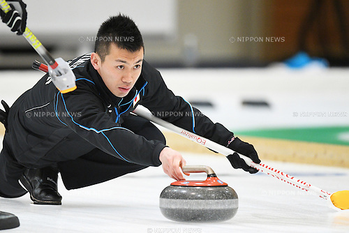 Tetsuro Shimizu (JPN), <br /> FEBRUARY 18, 2017 - Curling : <br /> Men's Round Robin match between<br /> Japan 19-1 Qatar <br /> during the 2017 Sapporo Asian Winter Games <br /> at Sapporo Curling Stadium in Hokkaido, Japan. <br /> (Photo by AFLO SPORT)