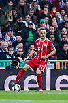 Joshua Kimmich of FC Bayern Munich in action during the UEFA Champions League Semi-final 2nd leg match between Real Madrid and Bayern Munich at the Estadio Santiago Bernabeu on May 01 2018 in Madrid, Spain. Photo by Diego Souto / Power Sport Images