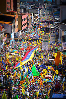 Venezuelan Presidential candidate  for the opposicion Capriles Radonski during the closing of his regional campaign in San Cristobal, Western Venezuela. Capriles will face Veneuelan President Hugo Chavez in the national election October 7th