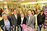 HAPPY ANNIVERSARY: Willie, Cathal and Violet Ryle with Mike de Lacey celebrating with customers and staff on the 1st anniversary of the Ashe Street Pharmacy on Thursday.   Copyright Kerry's Eye 2008
