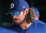 Dodgers' DJ Peters competes in a triple-A game against the Brewers in Glendale, Ariz., on Friday, March 15, 2019. <br /> Photo by Cathleen Allison/Nevada Momentum