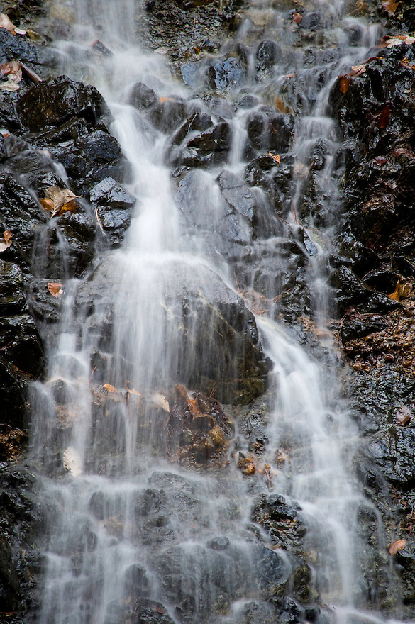 Greece, Pindos Mountains, Pindos NP, Valia Calda, Small waterfall in Valia Calda