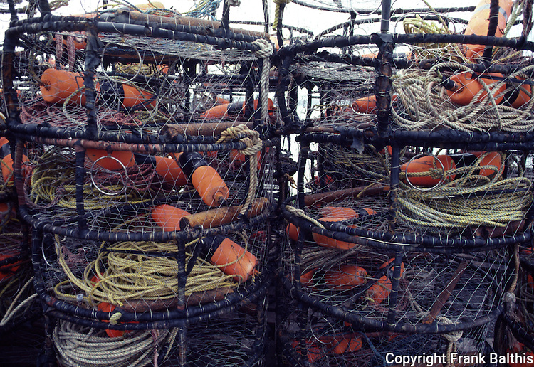 Crab traps at Bodega Bay