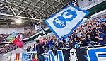 Stockholm 2014-08-31 Fotboll Allsvenskan Djurg&aring;rdens IF - Malm&ouml; FF :  <br /> Malm&ouml;s supportrar med flaggor i Tele2 Arena <br /> (Foto: Kenta J&ouml;nsson) Nyckelord:  Djurg&aring;rden DIF Tele2 Arena Malm&ouml; MFF supporter fans publik supporters