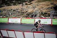 at the finish<br /> <br /> Stage 20: Arenas de San Pedro to Plataforma de Gredos (190km)<br /> La Vuelta 2019<br /> <br /> ©kramon