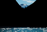 Alaska, Tracy Arm, Stephen's Passage, Southeast Alaska, glaciated landscape, icebergs, brash ice,.Alaska Cruise Ship destination, Southeast Alaska,.