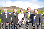 Pictured outside the O'Connell Centre, Cahersiveen at the launch of IT Requirements Survey on South West Kerry were l-r Michael O'Leidhin Director of The O'Connell Center for Adult Education, Eamon Langford Chairman of IITT, Suzanne King -Manager FEXCO Cahersiveen, Ceann Comhairle Mr. John O'Donoghue and John Loughry Researcher of IT needs in South-West Kerry.  This Survey was carried out with funding from FEXCO & The County Enterprise Board