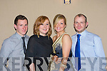 Shane Kelleher, Katie O'Connell, Edel Shine and Conor Kelleher Millstreet on the ball at the St John's GAA Millstreet social in the Killarney Heights Hotel on Saturday night
