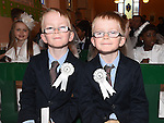 JOsh and Alex Matthews who received their first holy communion at St Joseph's Church Mell. Photo:Colin Bell/pressphotos.ie