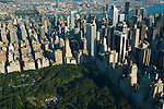 Aerial view of  Central Park, New York City, view East towards Brooklyn