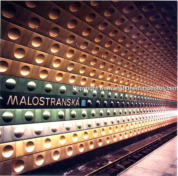 Prague Metro underground Czech Republic