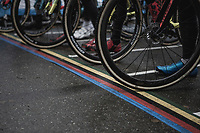 All ready at the start. <br /> <br /> men's elite race<br /> Lampiris Zilvermeercross Mol / Belgium 2017