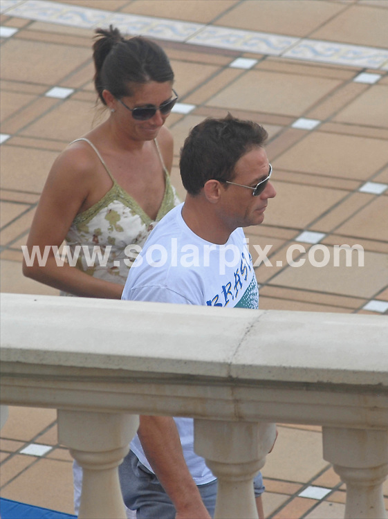 **ALL ROUND EXCLUSIVE PICTURES FROM SOLARPIX.COM**.SYNDICATION RIGHTS FOR UK, CANADA, USA, SOUTH AFRICA, SOUTH AMERICA, DUBAI, AUSTRALIA, NEW ZEALAND, GREECE, ASIA.Jean Claude Van-Damme in the Balearic Island Palma de Mallorca with his ex wife Gladys Portuguese, having some quality time together in Spain yesterday..JOB REF: 3906- SPA     DATE:14_05_07.**MUST CREDIT SOLARPIX.COM OR DOUBLE FEE WILL BE CHARGED* *UNDER NO CIRCUMSTANCES IS THIS IMAGE TO BE REPRODUCED FOR ANY ONLINE EDITION WITHOUT PRIOR PERMISSION*