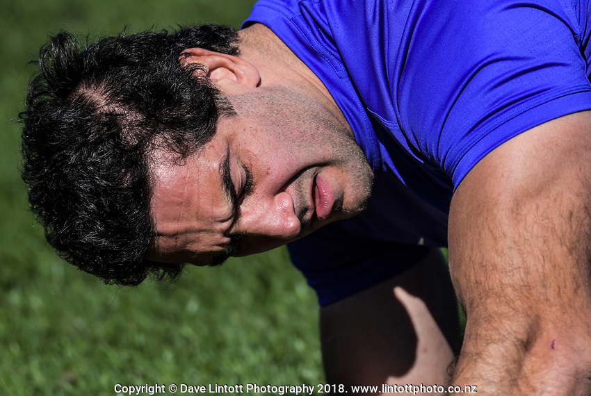 Juan Manuel Leguizamon during the Rugby Championship Argentina Pumas captain's run at Trafalgar Park in Nelson, New Zealand on Friday, 7 September 2018. Photo: Dave Lintott / lintottphoto.co.nz