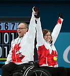 Pyeongchang, Korea, 17/3/2018-Marie Wright, Dennis Thiessen, Mark Ideson, Ina Forrest, compete in the bronze medal game of wheelchair curling during the 2018 Paralympic Games. Photo: Scott Grant/Canadian Paralympic Committee.