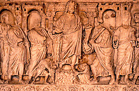 Greek Art:  Christ and His Apostles, Sarcophagus.  Rome, late 4th C.   Louvre.