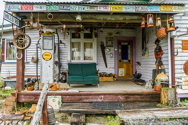 """Unique old house and wares in Ross """"Gold Town"""" on the west coast of South Island, New Zealand"""