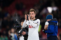 Tottenham Hotspur's Christian Eriksen celebrates at full time          <br /> <br /> <br /> Photographer Craig Mercer/CameraSport<br /> <br /> The Premier League - Crystal Palace v Tottenham Hotspur - Wednesday 26th April 2017 - Selhurst Park - London<br /> <br /> World Copyright &copy; 2017 CameraSport. All rights reserved. 43 Linden Ave. Countesthorpe. Leicester. England. LE8 5PG - Tel: +44 (0) 116 277 4147 - admin@camerasport.com - www.camerasport.com
