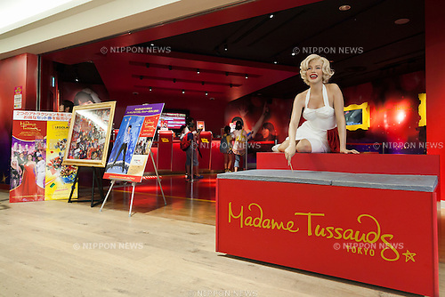 A wax figure of Marilyn Monroe, American actress, model and singer on display at the entrance of the Madame Tussauds Tokyo wax museum in Odaiba, Tokyo, June 15, 2015. The world famous British wax museum ''Madame Tussauds'' opened its 14th permanent branch in Tokyo in 2013 and exhibits international and local celebrities, sports players and politicians. New additions to the collection include wax figures of the Japanese figure skater Yuzuru Hanyu and the actor Benedict Cumberbatch. The wax figure of Benedict Cumberbatch will be exhibited until June 30th. (Photo by Rodrigo Reyes Marin/AFLO)