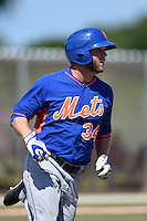 New York Mets Tucker Tharp (34) during a minor league spring training game against the St. Louis Cardinals on April 1, 2015 at the Roger Dean Complex in Jupiter, Florida.  (Mike Janes/Four Seam Images)