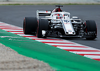 CHARLES LECLERC (MCO) of Alfa Romeo Sauber F1 Team during Day 2 of the 2018 Formula 1 Testing at the Circuit de Catalunya, Barcelona. on 27 February 2018. Photo by Vince  Mignott.