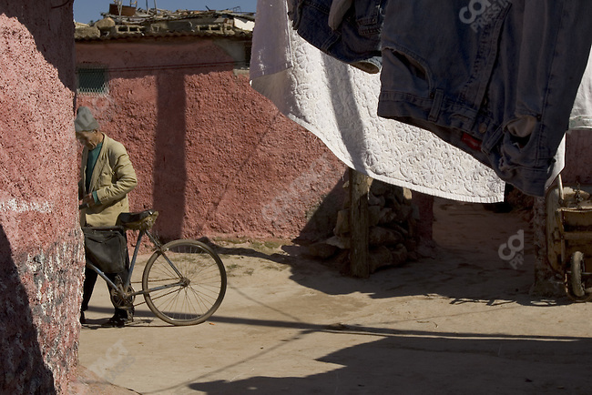 Street scenes in the Sidi Moumen area of Casablanca, Morocco.
