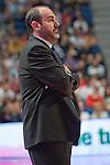 Asefa Estudiantes' coach Trifon Poch during Liga Endesa ACB match.April 22,2012. (ALTERPHOTOS/Ricky)