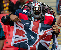 3rd November 2019; Wembley Stadium, London, England; National Football League, Houston Texans versus Jacksonville Jaguars; A Texans fan with a Union Jack - Editorial Use