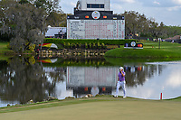 Tyrrell Hatton (ENG) tips his hat to the roaring crowd on 18 during round 4 of the Arnold Palmer Invitational at Bay Hill Golf Club, Bay Hill, Florida. 3/10/2019.<br /> Picture: Golffile | Ken Murray<br /> <br /> <br /> All photo usage must carry mandatory copyright credit (© Golffile | Ken Murray)