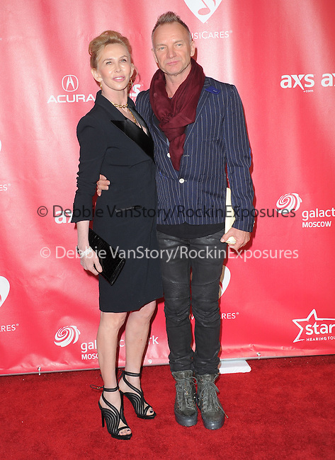 Sting and Trudie Styler at The MusiCares® 2013 Person Of The Year Tribute held at The Los Angeles Convention Center, West Hall in Los Angeles, California on February 08,2013                                                                   Copyright 2013 Hollywood Press Agency