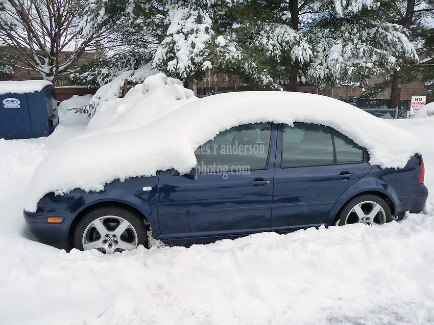 27 January 2011 Snow Storm After Affects: VW Jetta Snowcovered