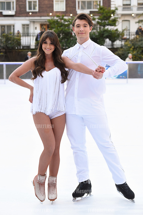 Brooke Vincent &amp; Matej Silecky&nbsp; at the &quot;Dancing on Ice&quot; launch photocall at the Natural History Museum, London, UK. <br /> 19 December  2017<br /> Picture: Steve Vas/Featureflash/SilverHub 0208 004 5359 sales@silverhubmedia.com