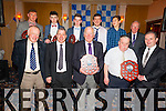 Award recipients at the St Mary's Dinner Dance in The Ring of Kerry hotel on Saturday night last were front l-r; Peter Murphy(Vice Treasurer), Mossie Coffey(Chairman), Frank O'Leary(Hall of Fame), Tony Horgan(Clubman of the Year), Brendan Casey(Secretary), back l -r; Denis Daly(Senior Player of the Year), Jack Daly(Minor Player of the Year), Anthony Cournane(Junior Player of the Year), Mark Quigley(Club Recognition Award), Muiris Fitzgerald(Club Recognition Award) & Junior Murphy(Club President).