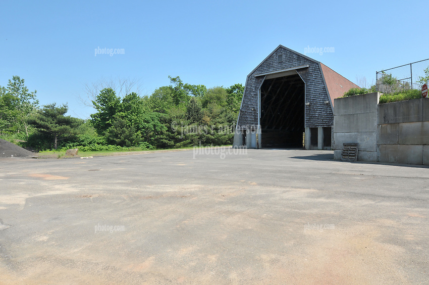 Pre-Construction Views. CT-DOT Orange Salt Shed Rehabilitation Project. No. 0106-0123