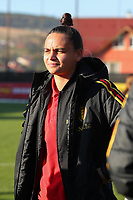 20191008 CLUJ NAPOCA: Belgium'ss Nicky Evrard is pictured before the match between Belgium Women's National Team and Romania Women's National Team as part of EURO 2021 Qualifiers on 8th of October 2019 at CFR Stadium, Cluj Napoca, Romania. PHOTO SPORTPIX | SEVIL OKTEM